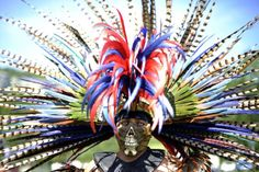 Aztec Costumes | An Aztec Indian poses in traditional clothing - ABC News (Australian ...