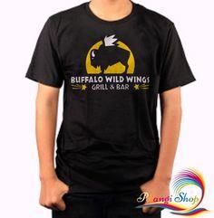 Buffalo+Wild+Wings+Logo+Grill+and+Bar+Black+Men's+Tshirt Grill Logo, Grilled Wings, Buffalo Wild Wings, Wings Logo, Black Men, Grilling, Popular, Division, Mens Tops