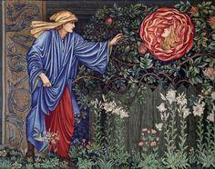 Pre Raphaelite Art: Edward Burne-Jones - The Pilgrim and the Heart of the Rose