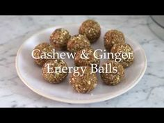 Deliciously Ella - Cashew and Ginger Energy Balls Deliciously Ella Recipes, Clean Eating Desserts, Healthy Eating, Healthy Dessert Options, Snack Recipes, Healthy Recipes, Veggie Recipes, Yummy Recipes, Protein Ball