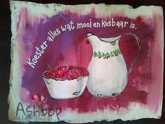Koester alles wat mooi en kosbaar is. Afrikaanse Quotes, 90th Birthday, My Land, Diy Arts And Crafts, Inspirational Thoughts, Stone Art, True Words, Cute Quotes, Word Art