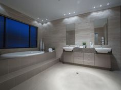 Travertine style walls and step for bathtub