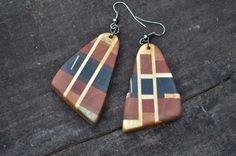 Wooden Earrings  by Molinart por Molinart en Etsy