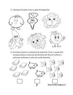 FISE de evaluare initiala MEM (Matematica si explorarea mediului) - Clasa Pregatitoare | Fise de lucru - gradinita Diy And Crafts, Crafts For Kids, Math 2, Youth Activities, Preschool Worksheets, Montessori, Kindergarten, Diagram, Classroom