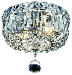 Buy the Elegant Lighting Royal Cut Clear Crystal Direct. Shop for the Elegant Lighting Royal Cut Clear Crystal Tranquil Single-Tier Flush Mount Crystal Chandelier, Finished in Chrome with Clear Crystals and save. Crystal Ceiling Light, Crystal Chandelier Lighting, Ceiling Light Fixtures, Chandeliers, Ceiling Lights, Hallway Ceiling, Ceiling Fans, Light Fittings, Flush Mount Lighting