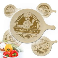 Pizzabrett mit Gravur via: monsterzeug.de