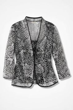 Moondance Jacket Set, Black
