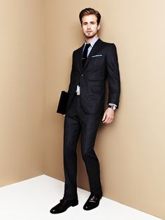 Wool flannel suit by Martin Greenfield