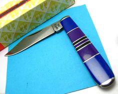 Santa FE Camco Purple Gemstone Inlay Pocket Knife Lapis Sugilite | eBay #sugilite #lapis #knife