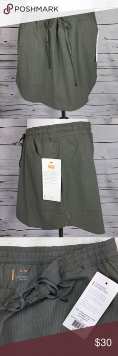 NWT Lucy Destination Anywhere Skirt. Size XL Cute, NWT Lucy Athletic Skirt. Drawstring waist, 2 Pockets. Moss green Heather Stripe. Lucy Flex is a quick-dry & Lightweight Four-Way stretch woven fabric. Perfect for this spring and summer. Please See All Pictures For Approximate Measurements. Thank you for shopping my closet. Size XL. ☀️ Lucy Skirts