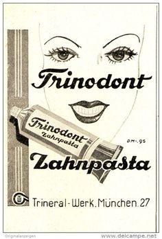 Original-Werbung/ Anzeige 1949 - TRINODONT ZAHNPASTA - ca. 60 x 90 mm