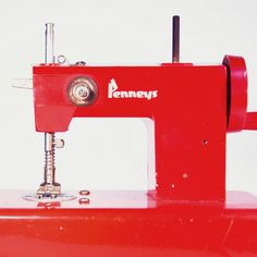 Penney's+mini+SEWING+MACHINE++Red++Vintage+60s+by+SoulfulOfferings,+$18.00
