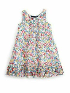 Ralph Lauren toddler boho floral dress This lightweight drop-waist dress is made from soft cotton jersey and features charming lace trim. Toddler Girl Dresses, Little Girl Dresses, Toddler Outfits, Kids Outfits, Girls Dresses, Baby Girl Fashion, Kids Fashion, Fashion Outfits, Boho Floral Dress
