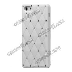 Diamond Bling Rhinstone Silicone Back Case Cover for iPhone 5 - White