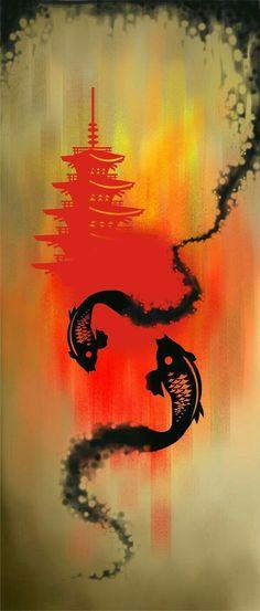 Arte Digital, Tatoo, Tattoo Pez, Koi Art, Samurai Tattoo, Samurai Art, Japanese Culture, Japanese Koi, Art Drawings