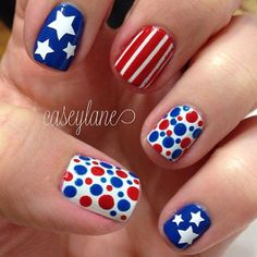 Perfect for all the #patriotic #holidays! #4thofJuly #MemorialDay #LaborDay #fun http://nailswithlovelv.com/index.html
