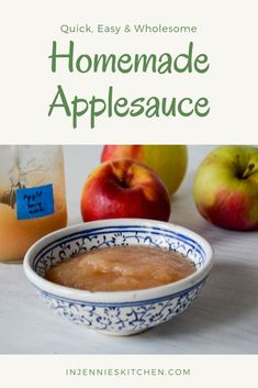 Make your own applesauce at home with this recipe using just 1 ingredient: apples! Homemade Applesauce by Jennifer Perillo Apple Breakfast, Breakfast Bars, Breakfast Recipes, Best Thanksgiving Recipes, Fall Recipes, Christmas Recipes, Best Apple Recipes, My Favorite Food, Favorite Recipes