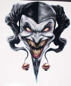 tribal Joker Skull trailer Window Decal Decals от SuperbDecalsLLC