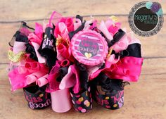 Always Kiss Me Goodnight Funky Loopy Bow by MeganWsBowtique on Etsy