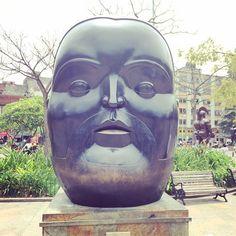 """cdaaf:  """"Head by Fernando Botero at Parque Botero Medellin, Colombia  """""""