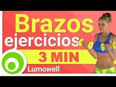 Brazos en 3 Minutos: Como Adelgazar y Tonificar los Brazos con Mancuernas en Casa - YouTube