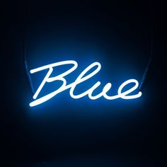 Neon Colour Word Lamp - Blue (2.630 ARS) ❤ liked on Polyvore featuring backgrounds, pictures, photos, text, words, fillers, quotes, phrase and saying
