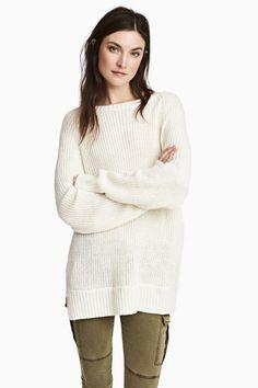 Pull - Blanc - FEMME | H&M FR 1