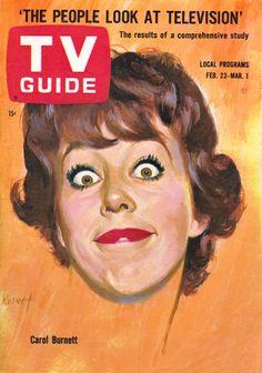 Carol Burnett on TV Guide cover Feb. 23-March 1, 1963