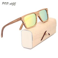 Orange Sunglasses Mirrored Zebra Wood Sunglasses Name Brand Men Sun Glasses  2016 Oculos De Sol Mens b808a9fc5b
