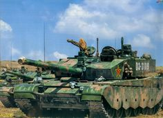 ZTZ-99A - Equips 334th and 336th Armoured Infantry Regiment - Armour Battalion