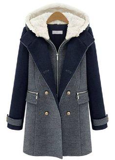 Veste en laine à capuchon EUR€46.48 Hiver, Tenue, Manteau Femme Capuche, fa5841cd073