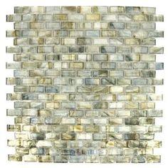Bohemia glass tile - sargasso sea