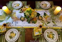 Italian, Sorrento, Lemon Table Setting