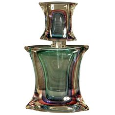 Bottle of Perfume in Murano Glass signed M. Onesto | From a unique collection of antique and modern sculptures at http://www.1stdibs.com/furniture/more-furniture-collectibles/sculptures/
