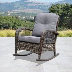 Shop for Corvus Salerno Outdoor Wicker Rocking Chair with Cushions. Get free delivery On EVERYTHING* Overstock - Your Online Garden & Patio Shop! Get in rewards with Club O! Double Rocking Chair, Adirondack Rocking Chair, Wicker Rocking Chair, Outdoor Rocking Chairs, Wicker Chairs, Wicker Furniture, Outdoor Sofas, Wicker Dresser, Wicker Couch