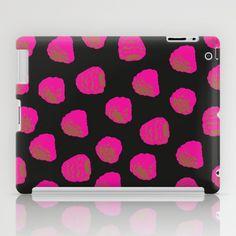 Raspberry pattern iPad Case by Georgiana Paraschiv