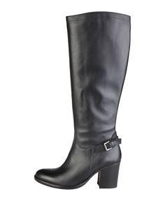 Versace 1969 abbigliamento sportivo srl milano italia - collezione autunno - inverno - stivali donna - chiusura laterale - Stivale donna  Nero