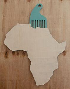 Afro Comb Africa by Michael Van Heerden Afro Comb, My Design, Africa, Typography, Behance, Shapes, Cool Stuff, Wood, Interior