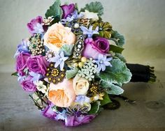 jewelry bridal bouquets #bridal Bouquets