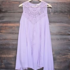 lavender boho crochet lace dress - shophearts - 1