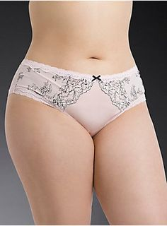 """<p>In our best-selling hipster cut, this silky light pink microfiber panty has our signature black and white luxe floral lace trimming the sides. A light pink mesh back plays a sexy game of peekaboo with a keyhole cutout, while the ruched center elevates your rearview. Faux pearl accent.</p>  <p></p>  <p><b>Search SKU 10693765 for matching bra</b></p>  <ul> <li style=""""LIST-STYLE-POSITION: outside !important; LIST-STYLE-TYPE: disc !important"""">Medium coverage</li> <li style=""""LIST-STYLE..."""