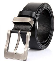 New Men Leather Fashion Belt Casual Dress Plain Black Size M Best Leather Belt, Leather Jeans, Cowhide Leather, Fashion Belts, Leather Fashion, Men's Fashion, Fashion Styles, Casual Belt, Casual Jeans