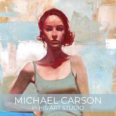 MICHAEL CARSON IN HIS ART STUDIO - Kara Bullock Art Kara, Studio, Studios