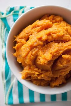Perfect Mashed Sweet Potatoes  2 pounds sweet potatoes, peeled and cut into 2-inch pieces 2 tablespoons butter 1/2 cup low-fat (1%) milk 1/2 teaspoon salt 1/4 teaspoon ground cinnamon 1/4 teaspoon ground ginger pinch nutmeg
