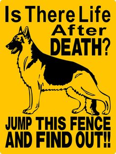 GERMAN SHEPHERD Dog Sign 9x12 ALUMINUM 2476A by animalzrule