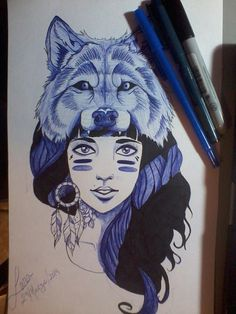 wolf tattoos for woman - Google Search