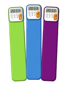 Keeping track of how much kids are reading is easy with the Mark-My-Time Digital Bookmark ($8.95).