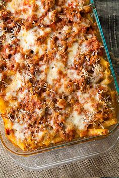 Feb 2020 - Baked Ziti - classic Italian American comfort food of pasta baked with sausage, tomato sauce and all kinds of gooey, yummy cheeses. So EASY and so good! Italian Dishes, Italian Recipes, Beef Recipes, Cooking Recipes, Pasta Bake Recipes, Baked Ziti Recipes, Recipies, Baked Ziti Recipe Ground Beef, Budget Recipes