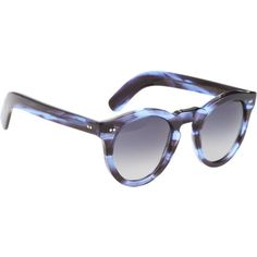 Cutler  Gross Thick Round Frame Sunglasses at Barneys.com