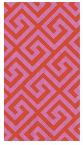 greek key guest towels (love the color combo)